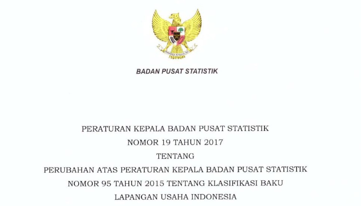 Penting, Setiap Badan Usaha Wajib Perbaharui KBLI Bidang Usaha Ke KBLI 2017